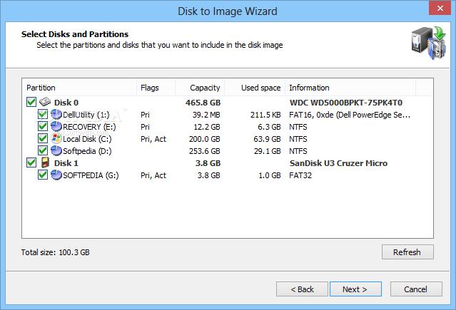 Active disk image keygen