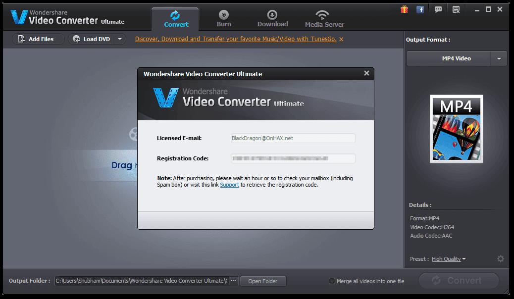 wondershare video converter ultimate 5.7.6 serial key