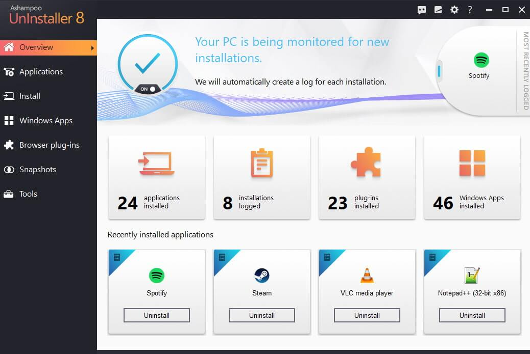 Ashampoo UnInstaller serial key