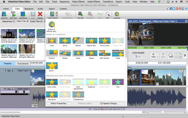 NCH VideoPad Video Editor Professional full torrent
